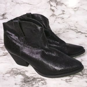 Reba Size 9.5 Brazen Bootie Metallic Black